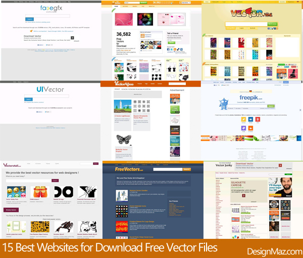 15+ Best Websites for Download Free Vector Files 2019 - DesignMaz