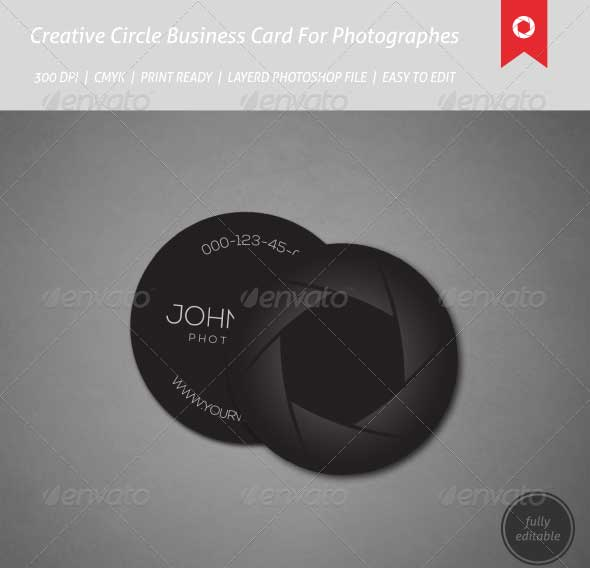 65 best business card for photographers 2016 designmaz creative circle business cards for photographers reheart Images