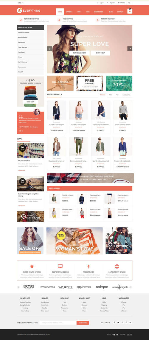 35 best responsive shopify themes 2016 everything multipurpose responsive shopify theme pronofoot35fo Image collections