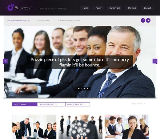 10 best responsive website templates for 2014 designmaz business corporate responsive web template pronofoot35fo Choice Image
