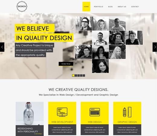 10+ Best Responsive Website Templates for 2014 - DesignMaz