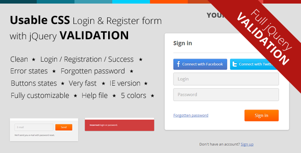 jquery mobile login template - 30 best html login registration form templates 2016