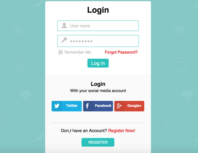 30 best html login registration form templates 2016 designmaz free responsive flat new login form widget template for your websites this login form is designed using web technologies such as html5 and css3 pronofoot35fo Choice Image