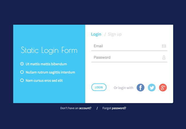 30 best html login registration form templates 2016 for Login page templates free download in asp net