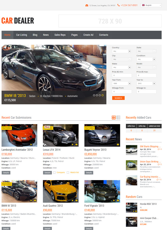 Free Car Dealer Themes For WordPress
