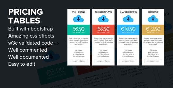 35+ Best HTML CSS3 Responsive Pricing Table Templates