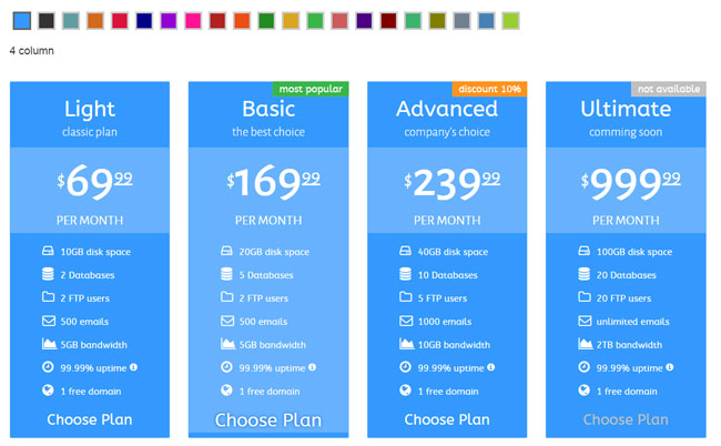35 best html css3 responsive pricing table templates for Pricing table design