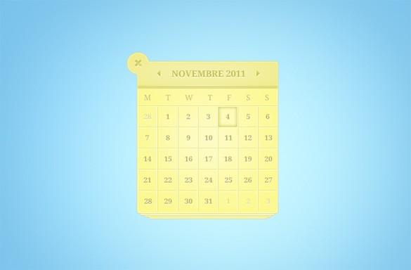 Calendar Ui Design Psd : Free calendar psd design templates designmaz