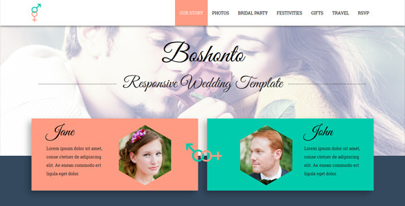 10  best responsive website templates for wedding and