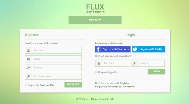15 best html5 web form templates designmaz for Jquery registration form template