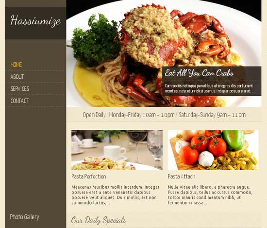 Best free restaurant and cafe wordpress themes designmaz