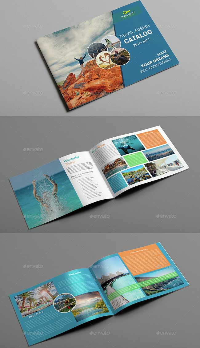 beautiful brochure templates - 40 best travel and tourist brochure design templates 2018