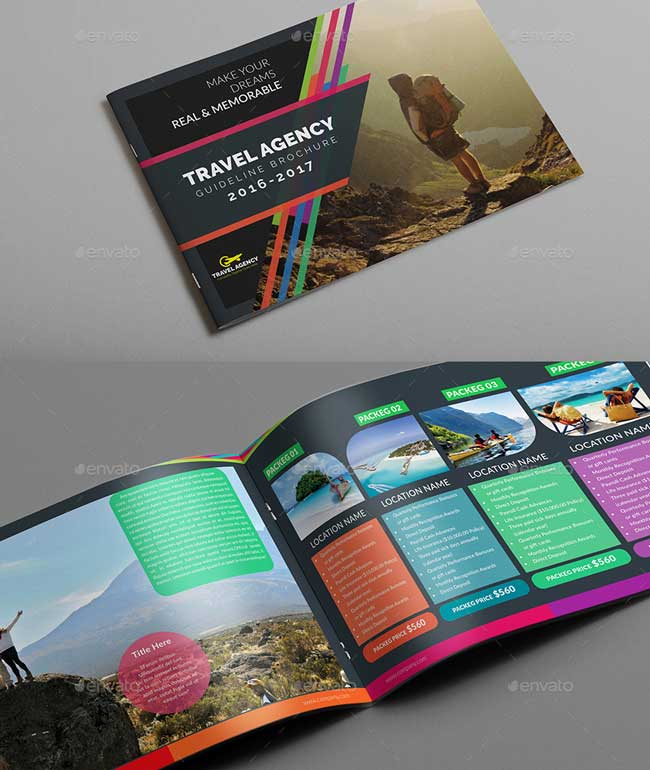 Best Travel And Tourist Brochure Design Templates Designmaz - Traveling brochure templates