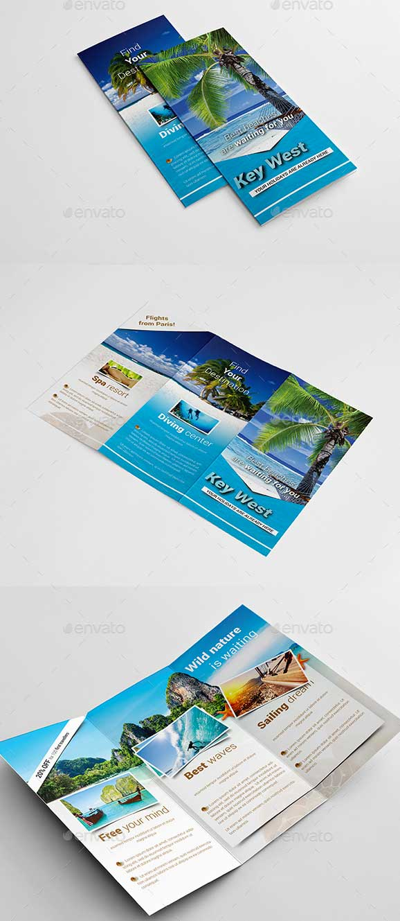 Best Travel And Tourist Brochure Design Templates Designmaz - Travel brochure template