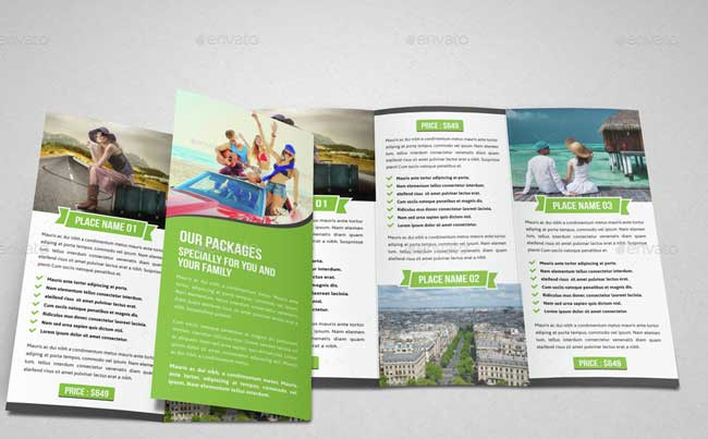Best Travel And Tourist Brochure Design Templates Designmaz - Tri fold brochure design templates
