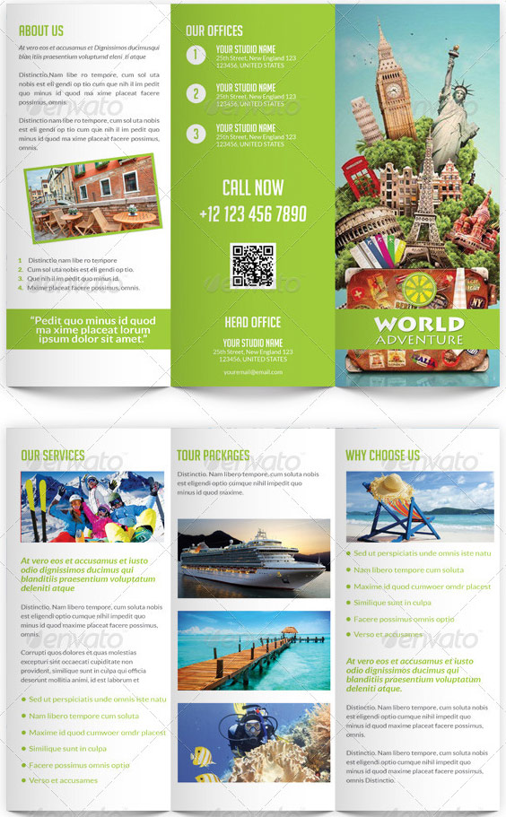 travel brochure template for students my best templates