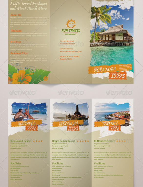 travel brochure examples for students pdf