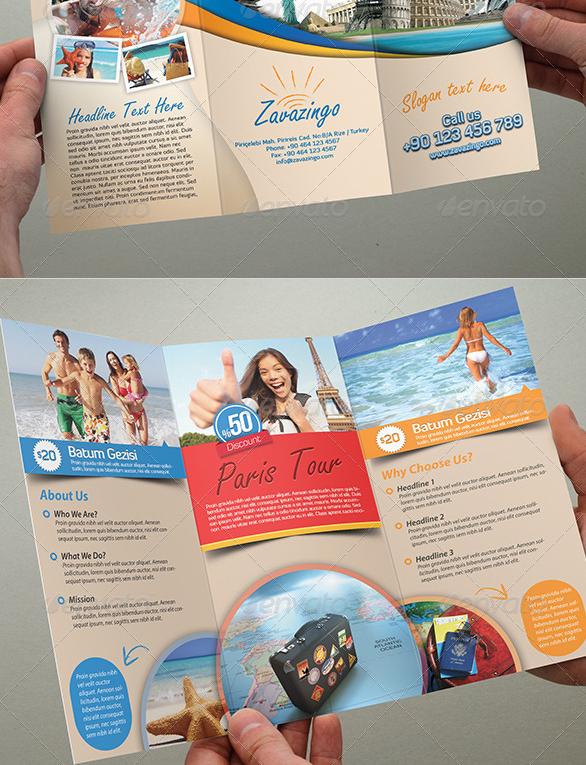 40+ Best Travel and Tourist Brochure Design Templates 2019