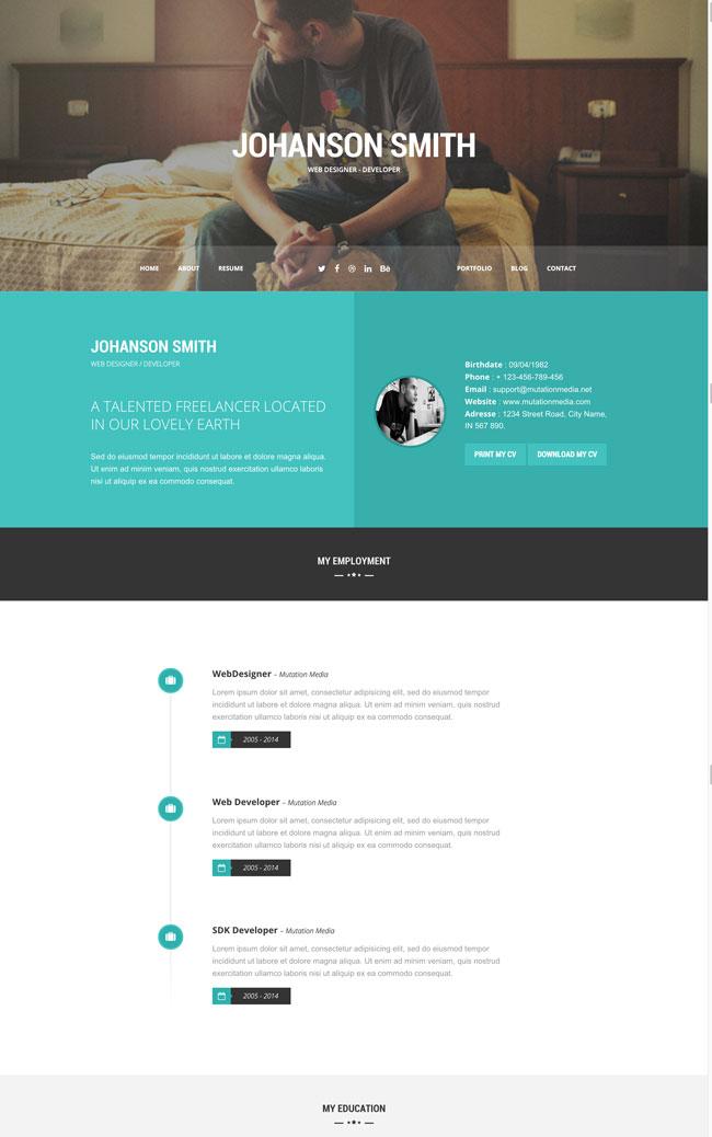 30+ Best HTML Virtual Business Card Templates 2016 - DesignMaz