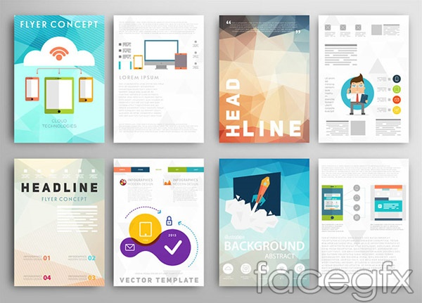 30 Free Brochure Vector Design Templates Designmaz