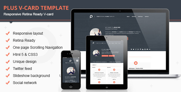 Best HTML Virtual Business Card Templates DesignMaz - Virtual business card template