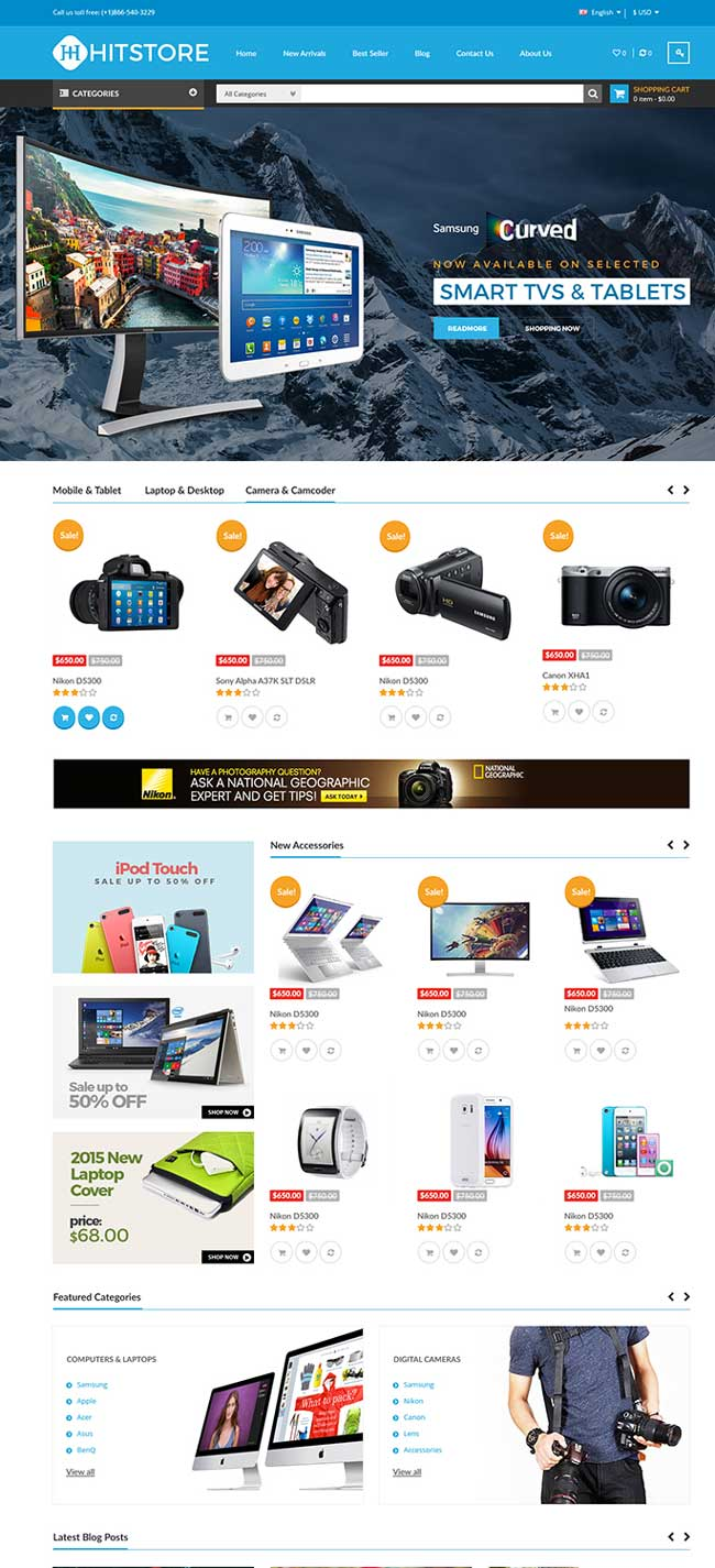 20+ Best Responsive Magento Themes for Digital Store 2016