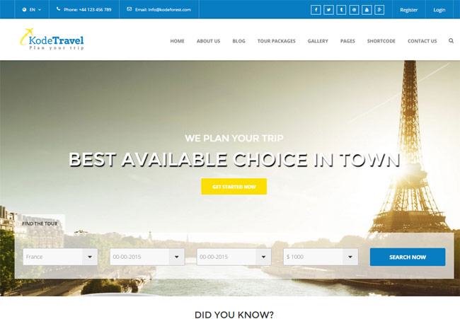 20+ Best HTML Responsive Booking Templates for Travel, Hotel