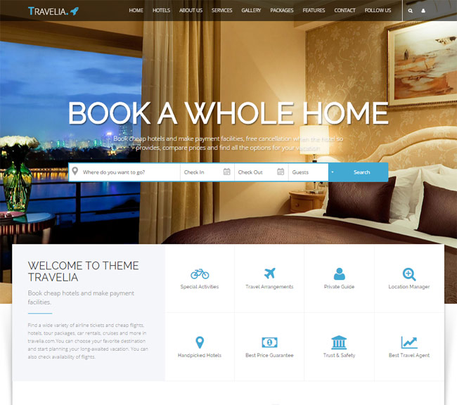 20+ Best HTML Responsive Booking Templates For Travel