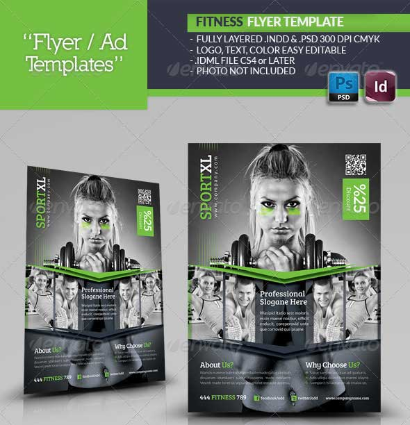 Free Fitness Gym Flyer Template Psd Files And Free Church: 25+ Beautiful Premium Flyer PSD Templates