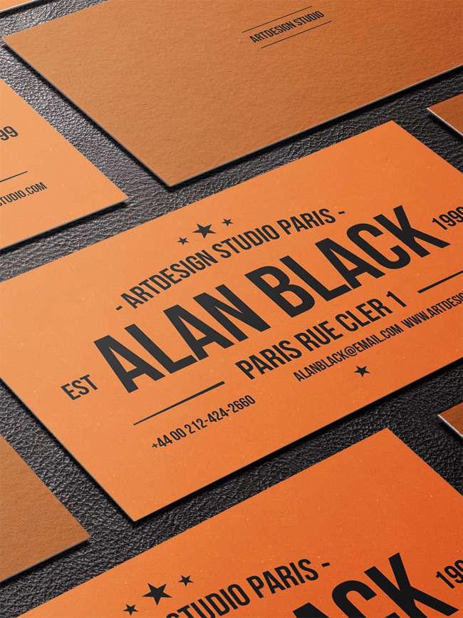 55 free creative business card templates designmaz webvilla shared minimal free business card template that offers a perfect blend of orange and black color theme you can download it freely and use for reheart Choice Image