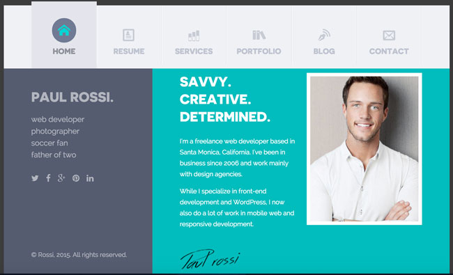 30 Best Resume Amp Cv Html Templates For Personal Business