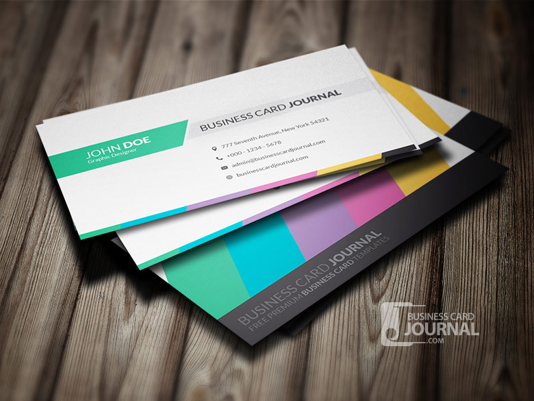 Clean Creative Multicolor Business Card Template