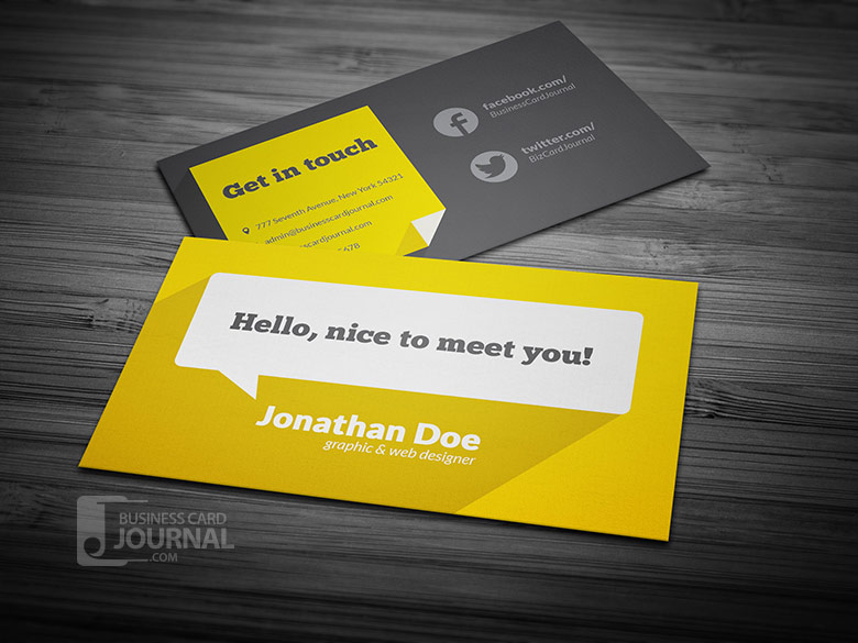 55 free creative business card templates designmaz flat design business card template long shadow reheart Gallery