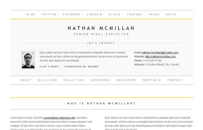30 best resume cv html templates for personal business card minimalme minimal html cv resume template yelopaper Choice Image