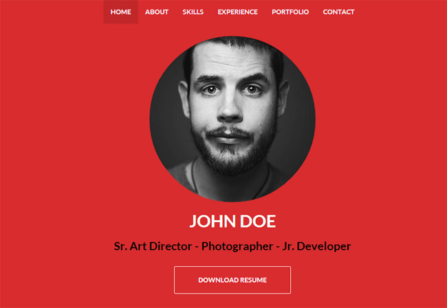 One Is A Flat, Responsive Resume And Personal Portfolio Theme For Placing  Your Personal Information, Whether You Are A Designer Or A Programmer Etc.  Online Resume Portfolio