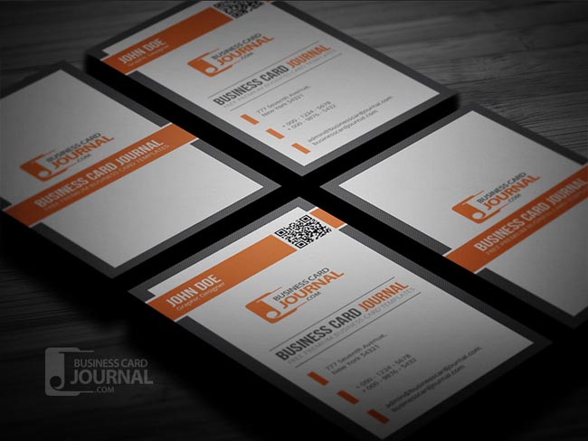 Free Creative Business Card Templates DesignMaz - Business card with qr code template