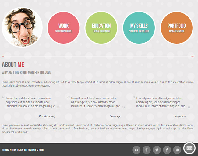 Lovely Symplicity Is A Modern But Simple Online CV / Portfolio Page For  Professionals And Corporate.  Online Resume Portfolio