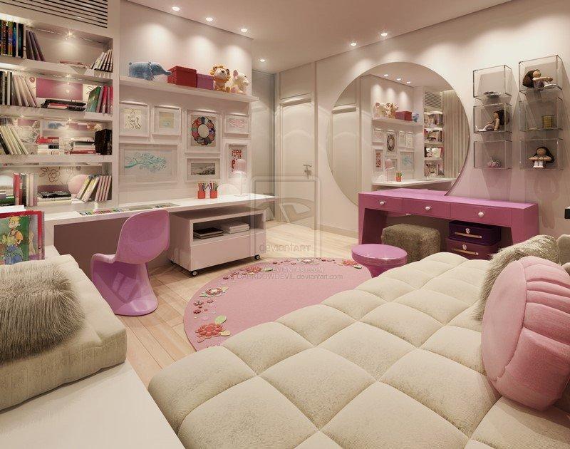 Ideal Bedroom Designs For Teenager Girls DesignMaz - Simple bedroom design for teenage girl