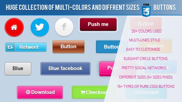 20+ Beautiful CSS3 Animation Button Packs - DesignMaz