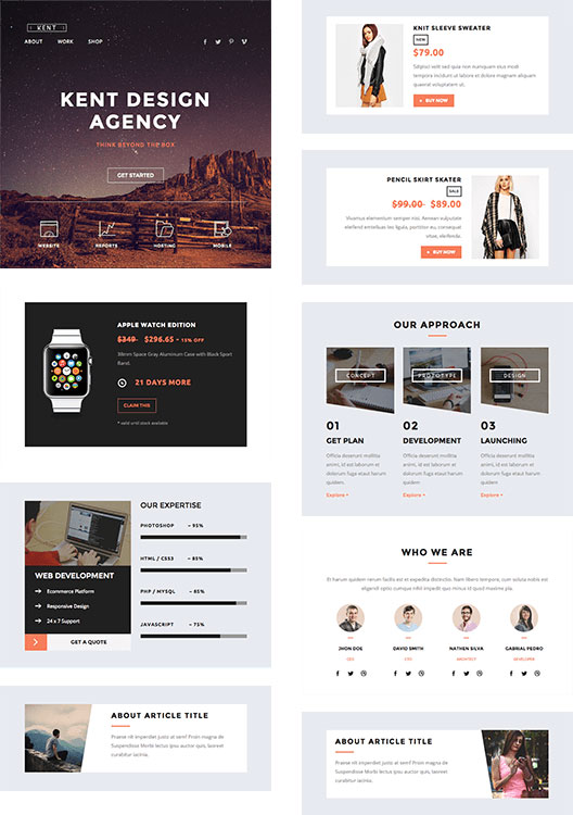 35 best responsive email templates 2015 kent responsive email stampready builder pronofoot35fo Image collections