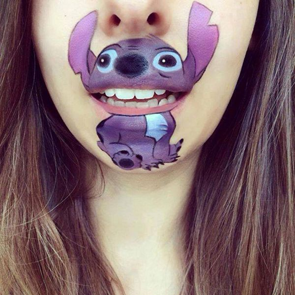 Lovely Cartoon Characters Are Covered In Lips By Awesome Makeup Artist Designmaz