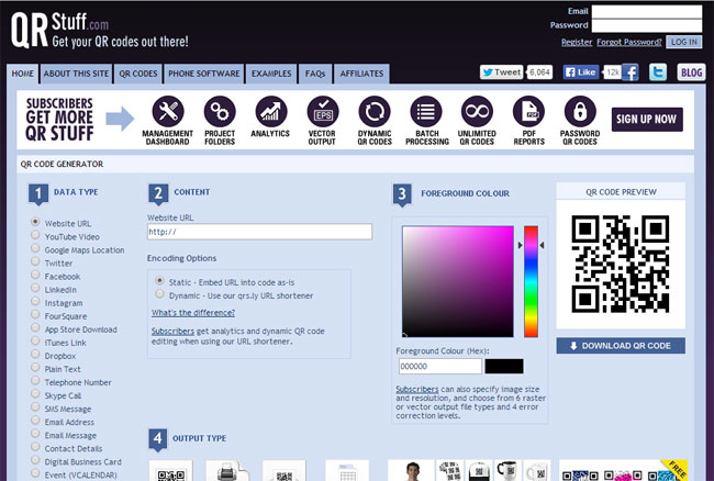 10 best free online qr code generator 2018 designmaz qrstuff is a free qr code generator and qr code online creator create qr codes ready to print or to add to a t shirt create a cell phone or mobile phone reheart Image collections