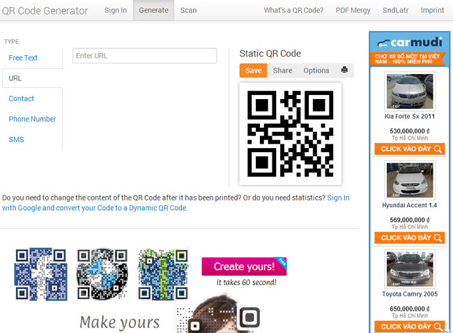 free qr code generator and tracking