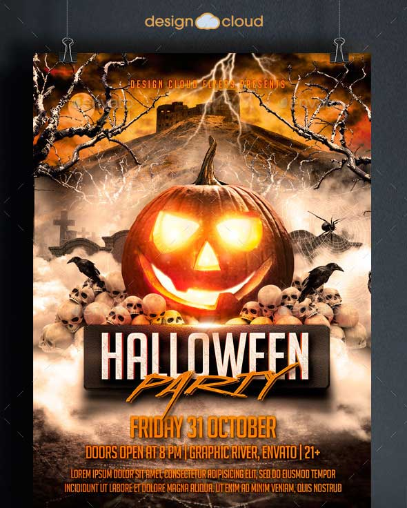 45 Best Halloween Psd Party Flyer Templates 2016
