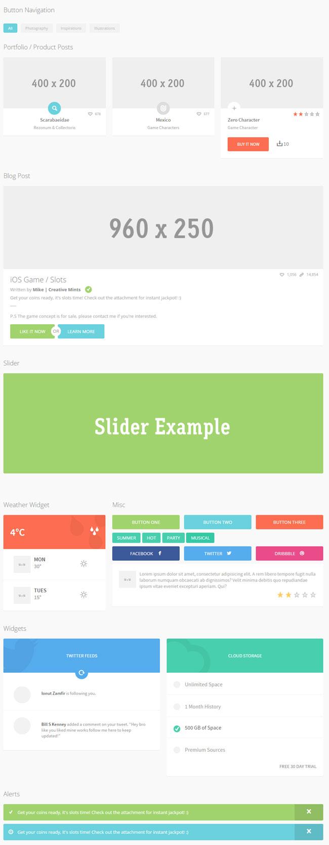 30+ Latest Best Free HTML/CSS3 UI Kits 2017 - DesignMaz