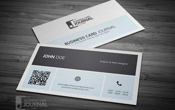 25 free psd business card template designs designmaz a straight forward design and yet enough to make a long lasting impression with this qr code business card template featuring metro style minimalist design reheart Images