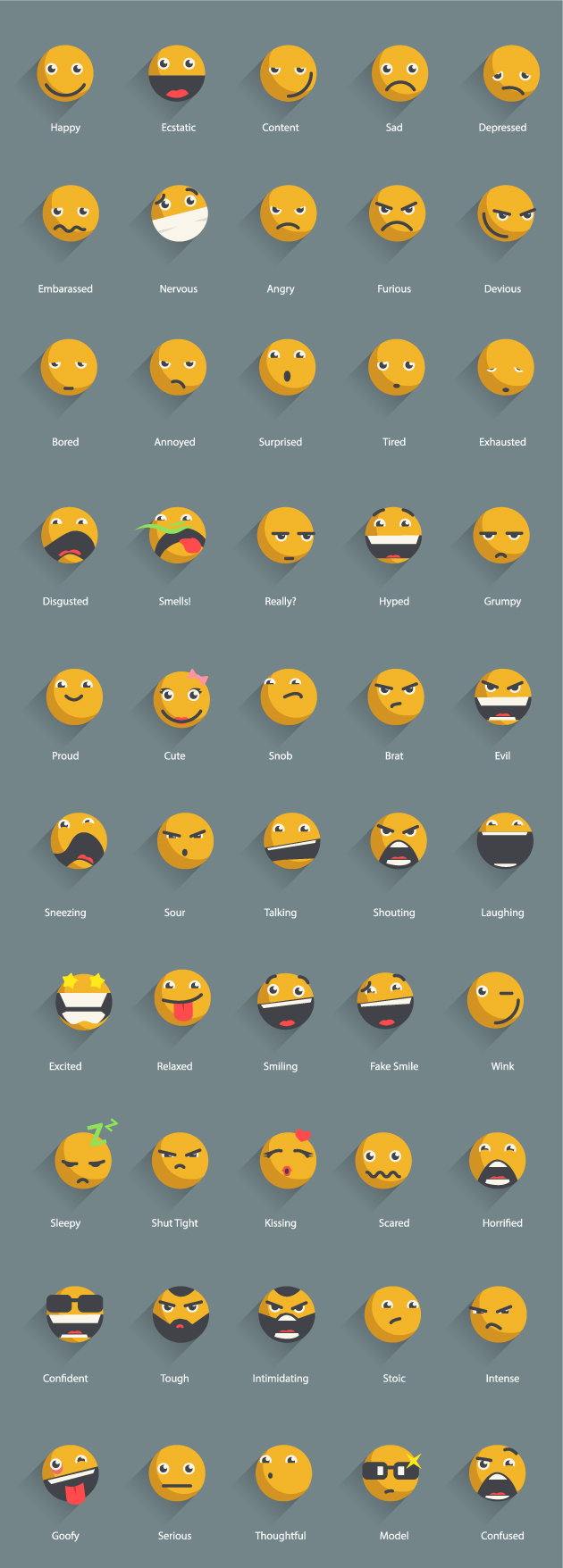 25 beautiful smiley and emoticons icon packs designmaz yellow shadowed emoticons icons vector free buycottarizona Choice Image
