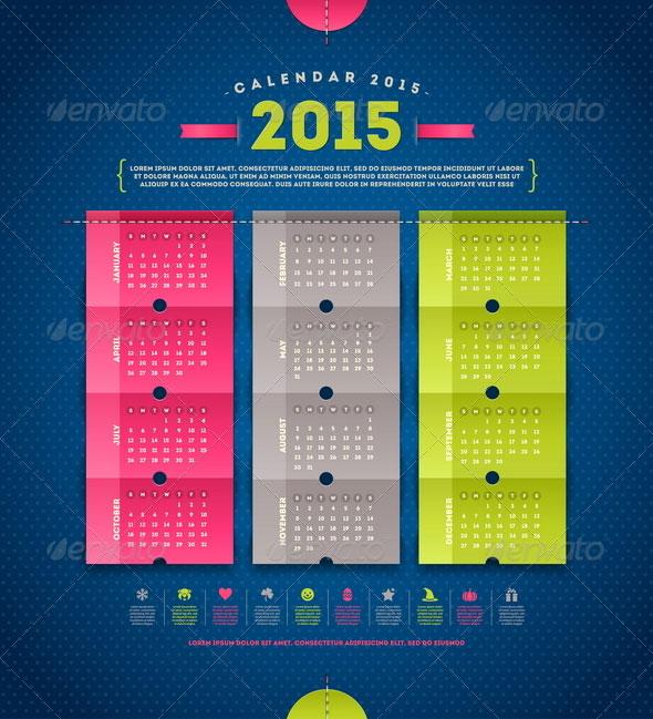 35+ Best 2015 Calendar Vector Templates - DesignMaz