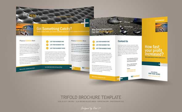 20 creative psd brochure templates for free 2017 designmaz for Brochure photoshop template