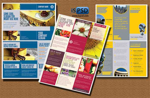 Creative PSD Brochure Templates For Free DesignMaz - Brochure photoshop template